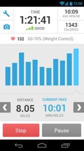 Apps Runkeeper untuk kira kalori senaman