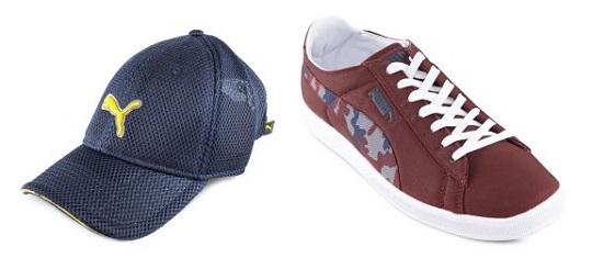 topi dan kasut puma