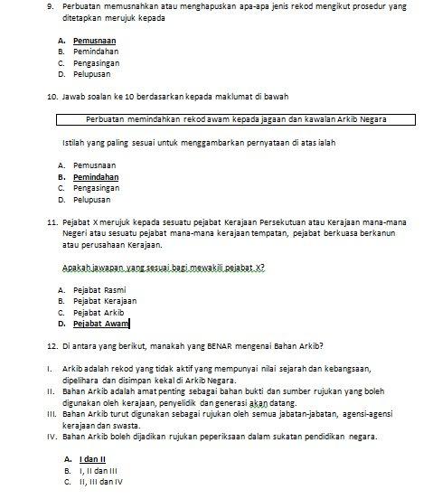download contoh soalan peperiksaan penolong arkib 12 mei