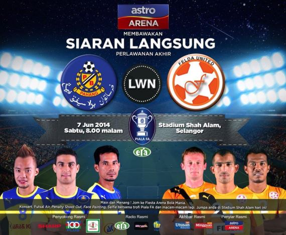 live streaming pahang vs felda united akhir piala fa 2014