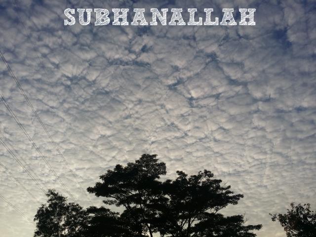 Subhanallah Alhamdulillah Allahuakbar!