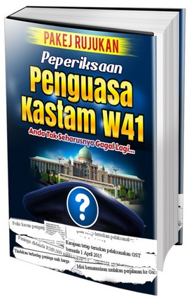 panduan spa peperiksaan online Penguasa Kastam W41