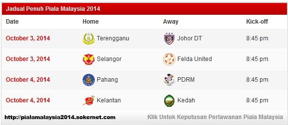 Jadual Suku Akhir Piala Malaysia Terengganu vs JDT!