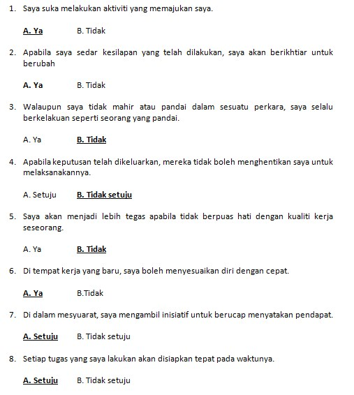 contoh soalan exam online pembantu tadbir n17 bahagian A